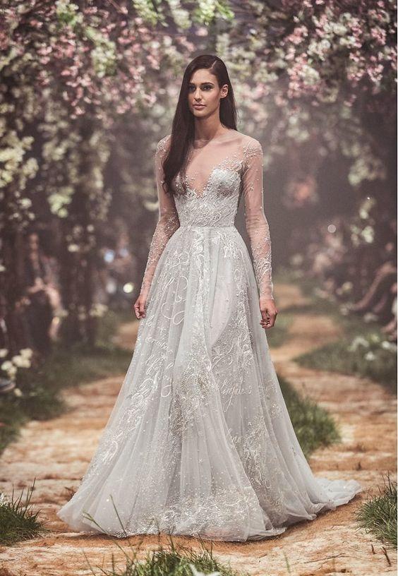 váy cưới màu xanh dương